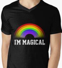 Im magisches Regenbogen-Hemd T-Shirt mit V-Ausschnitt für Männer