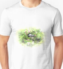 Chickadee in the Apple Blossoms Unisex T-Shirt