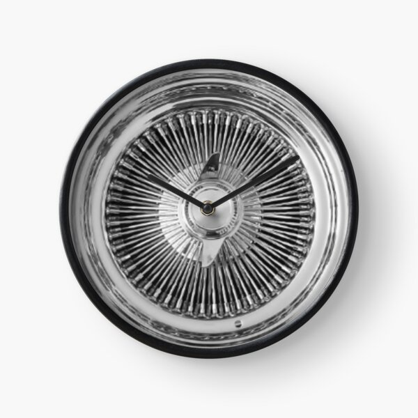 Lowrider Classic Chrome Wire Wheel Clock