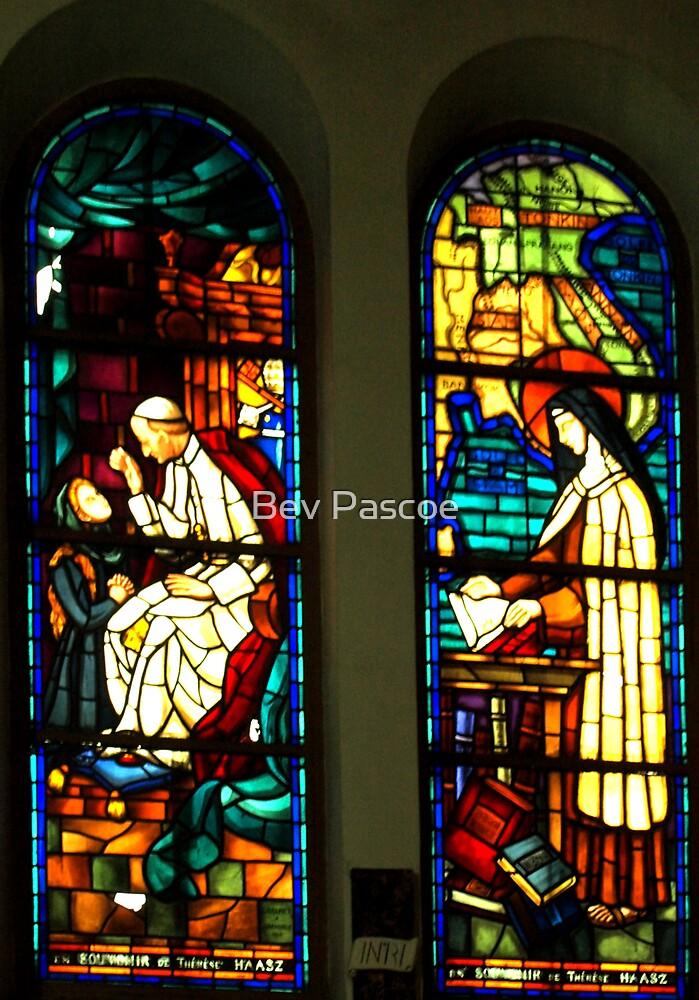 Windows of Notre Dame Cathedral, Saigon, Vietnam by Bev Pascoe