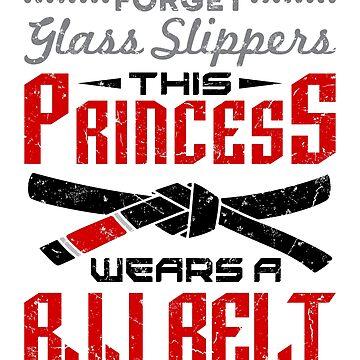 Jiu Jitsu Girl Gifts - Forget Glass Slippers BJJ Belt  by jaygo