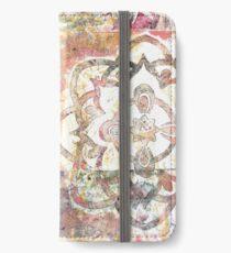 Monoprint Rose Mandala iPhone Wallet/Case/Skin