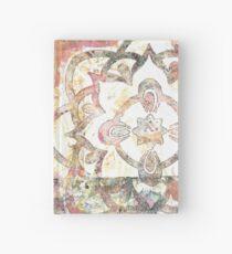 Monoprint Rose Mandala Hardcover Journal