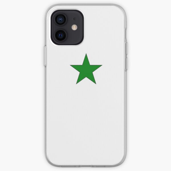 Green Esperanto Star iPhone Soft Case