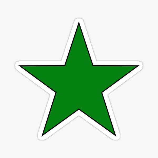 Green Esperanto Star Sticker