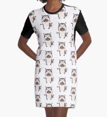 Norwegian Elkhound Graphic T-Shirt Dress
