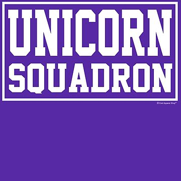 Unicorn Squadron Shirt by CoolApparelShop
