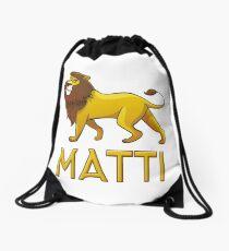 Matti Lion Drawstring Bags Drawstring Bag