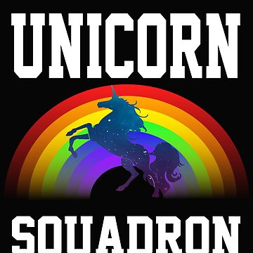 Unicorn Squadron with Rainbow by CoolApparelShop