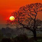 Sunset over Wybunbury by ten2eight