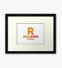 Paul Ryan for President Framed Print