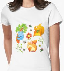 Woodland Fun Women's Fitted T-Shirt