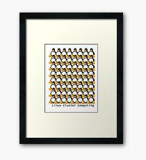 Linux Cluster Computing, Tux the Penguin x 64 Framed Print
