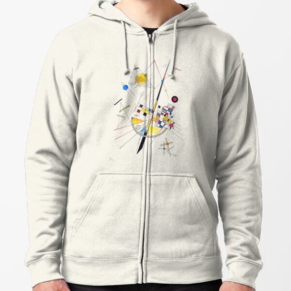 """HD """"Delicate Tension"""" (1923) by Wassily Kandinsky Zipped Hoodie"""