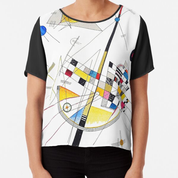 """HD """"Delicate Tension"""" (1923) by Wassily Kandinsky Chiffon Top"""