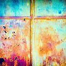 Rusty and peeling door by Silvia Ganora