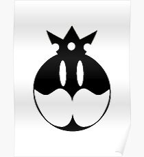 Simplistic King Bob omb Emblem Poster