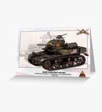 M3A1 Light Tank (Stuart) Greeting Card