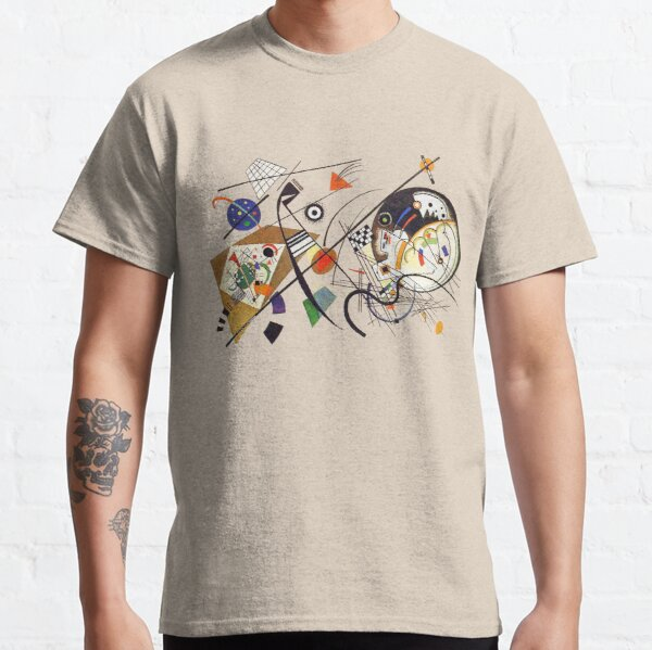 """HD """"Transverse Lines"""" (1923) by Wassily Kandinsky Classic T-Shirt"""