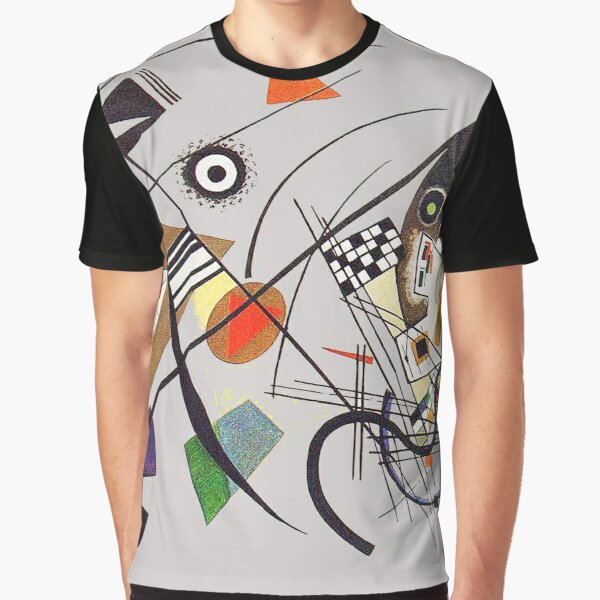 "HD ""Transverse Lines"" (1923) de Wassily Kandinsky Camiseta gráfica"