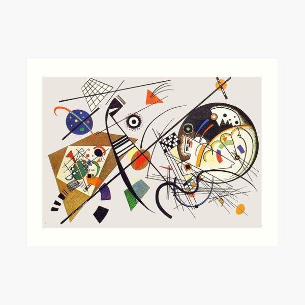 "HD ""Transverse Lines"" (1923) by Wassily Kandinsky Art Print"