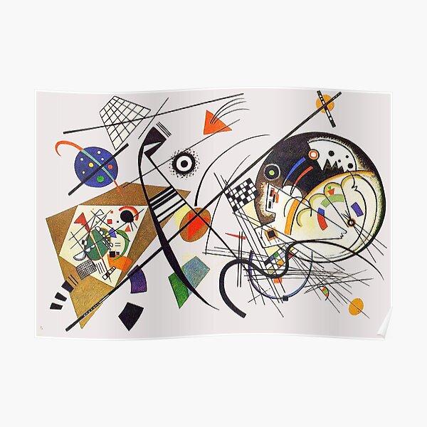 """HD """"Transverse Lines"""" (1923) de Wassily Kandinsky Poster"""