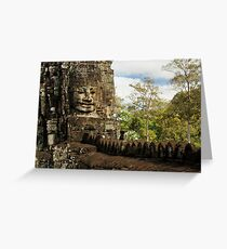 Bayon Temple Historic Architecture Greeting Card