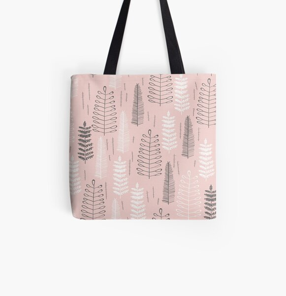 Foxy Ferns All Over Print Tote Bag
