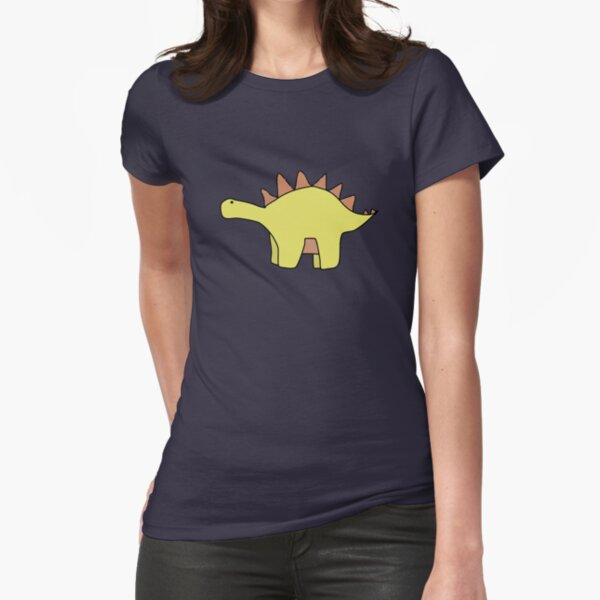 Dinosaurs and Dinosaurs Fitted T-Shirt