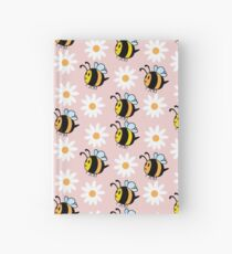 Chubby Bees With Daisies  Hardcover Journal