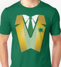 St Patrick's Day Shirt | Dressy Leprechaun Suit Tee  Unisex T-Shirt