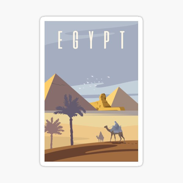 Ancient Egyptian Pyramids Sticker