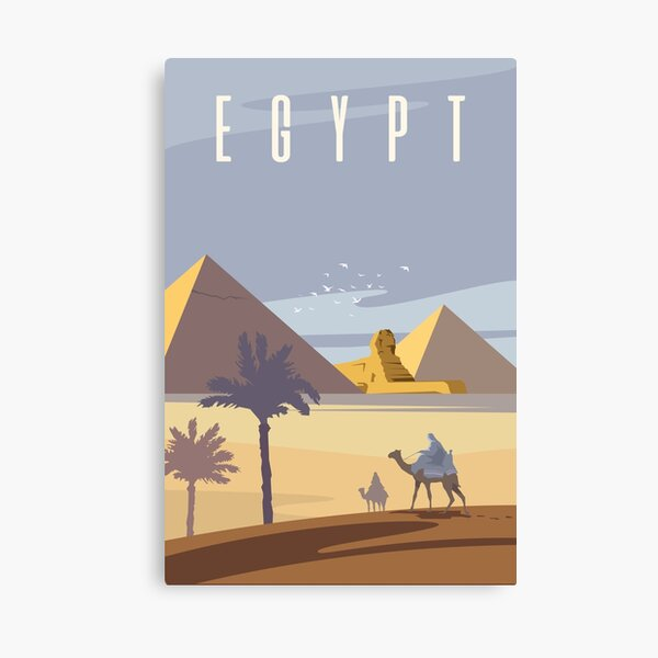 Ancient Egyptian Pyramids Canvas Print