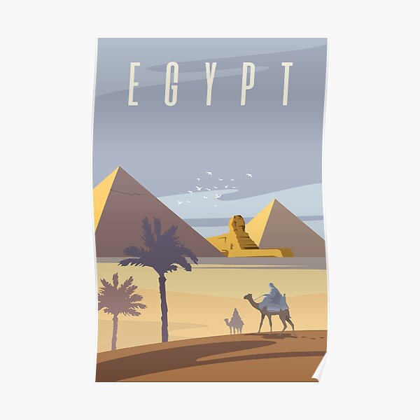 Ancient Egyptian Pyramids Poster