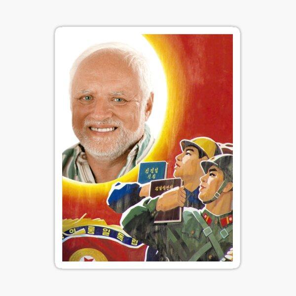 North Korean Harold Sticker