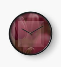 4am Tulip reflection  Clock