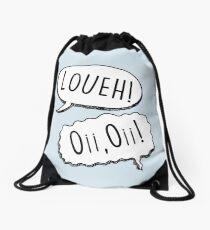 Loueh! Oi, Oi! - light blue Drawstring Bag