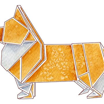 Origami Corgi by Dwuff