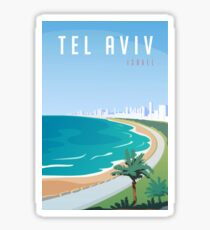 Vintage Tel Aviv Israel Travel Sticker
