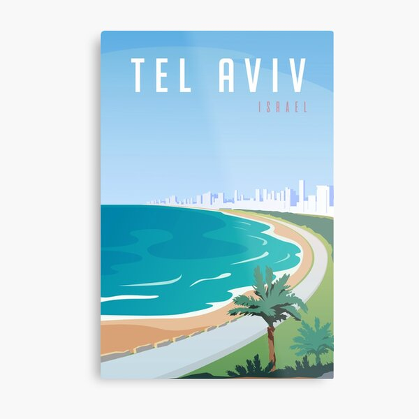 Vintage Tel Aviv Israel Travel Metal Print