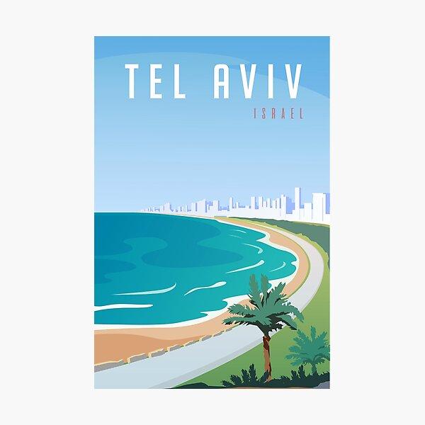 Vintage Tel Aviv Israel Travel Photographic Print