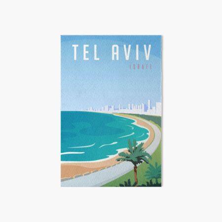 Vintage Tel Aviv Israel Travel Art Board Print