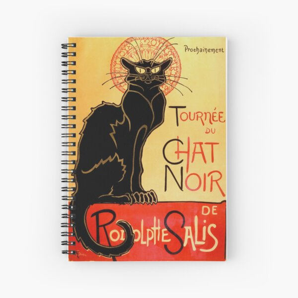 Chat Noir Art Nouveau Chat Noir Cahier à spirale