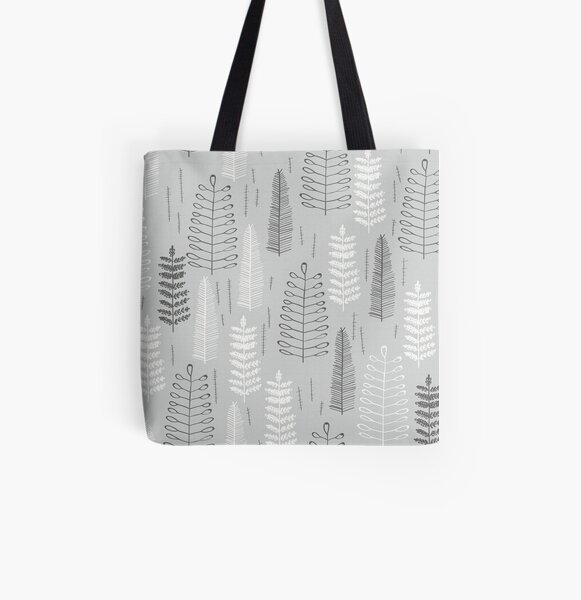 Ferns on a Rainy Day All Over Print Tote Bag