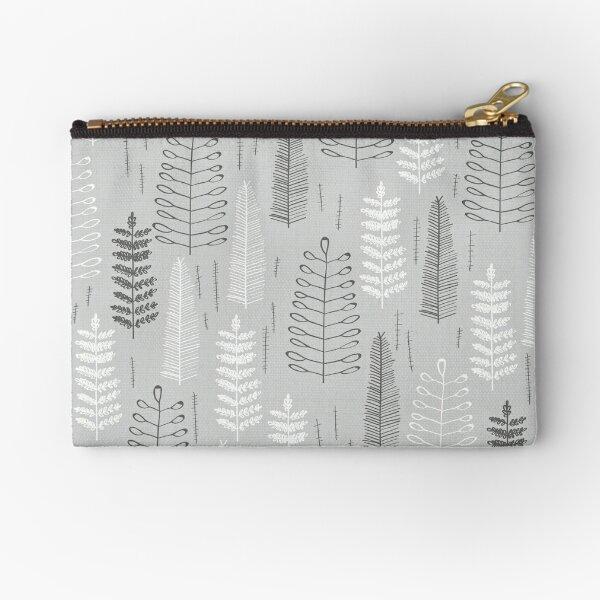 Ferns on a Rainy Day Zipper Pouch