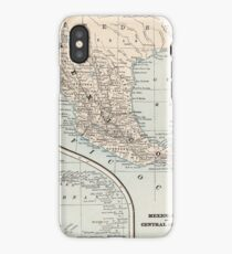 Vintage Map of Mexico (1893) iPhone Case