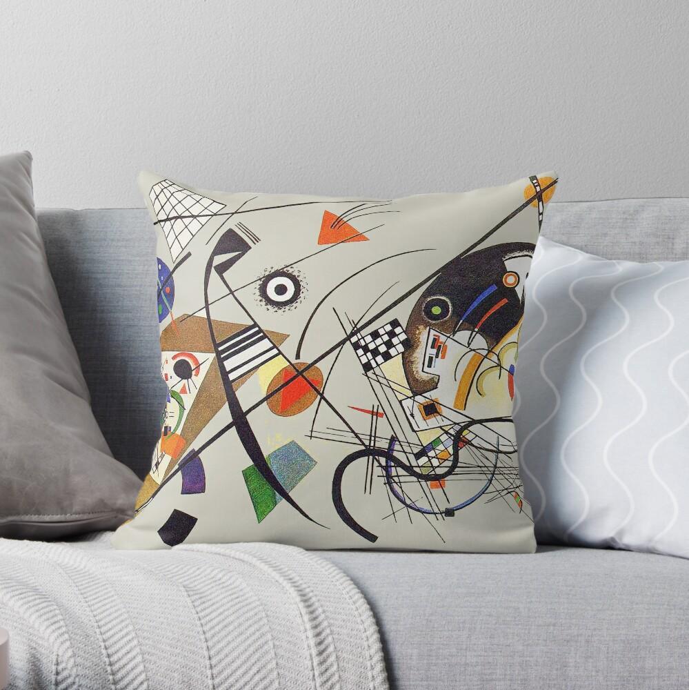 "HD ""Transverse Line"" (1923) by Wassily Kandinsky Throw Pillow"