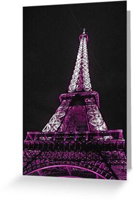 Eiffel Tower- Purple by Tom  Reynen
