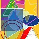 Graphic Stars & Blocks Fuchsia Insipration by Erinelizacotter