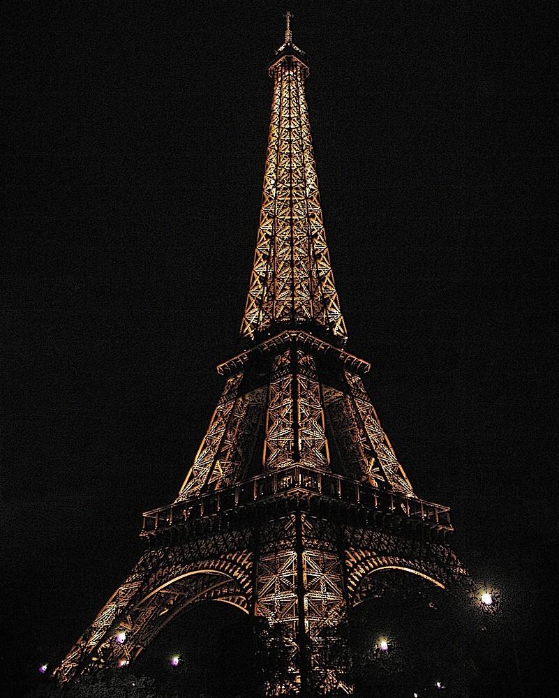 Eiffel Tower Night by Tom  Reynen